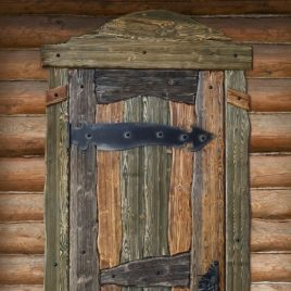 Дверь под старину #13