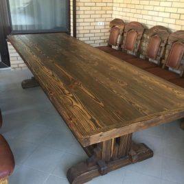 Столы под старину с красивой текстурой дерева